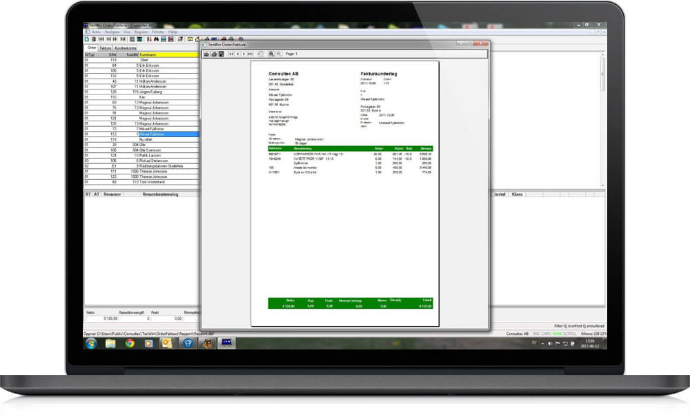 Tenwin Order laptop